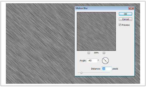 Creating a Metal Effect in Photoshop - Add Motion Blur