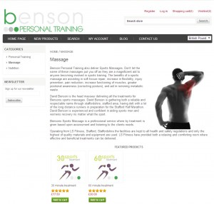 ECommerce Website for Benson Sports Massage